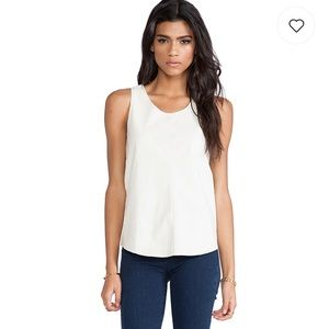 Townsend perforated leather Rookie top